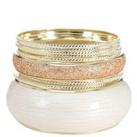 Payless, Women's Glitter Bangle Set, Women's, Accessories