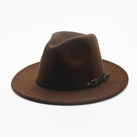 Wool Wide-Brim Fedora