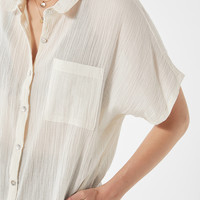 UO Iris Gauzy Button-Down Shirt | Urban Outfitters