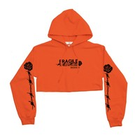 Handle With Care Crop Hoodie