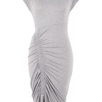 Ruched Bodycon Midi Dress