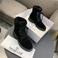 MONCLER  Women Casual Shoes Boots fashionable casual leather Women Heels Sandal Shoes