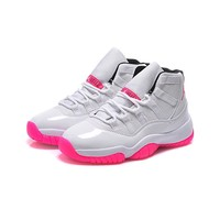 Air Jordan 11 Retro GS White/Pink AJ11 Sneakers - Best Deal Online