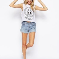 ASOS Cropped T-Shirt with Donald Duck Frame Print
