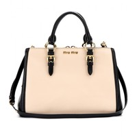 mytheresa.com -  Two-tone leather tote - friday - current week - new arrivals - Luxury Fashion for Women / Designer clothing, shoes, bags