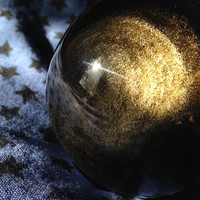 Gold Sheen Black Obsidian Sphere, Crystal Ball, Golden Obsidian, Divination, Scrying, Metaphysical, Protection, Shielding, Free Shipping