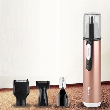 4 In 1 Multifunctional Electric Nose Hair Trimmer Eyebrow Shaver Blade Electric Face Precision for Moustache Clipper Razor