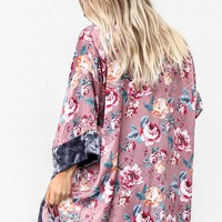 Make It Alright Floral Print Open Cardigan