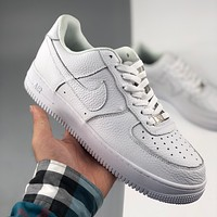 Nike Trend Air Force One All White Low Top Casual Sports Shoes