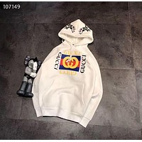 Gucci£ºPrint Hooded Pullover Tops Sweater Sweatshirts