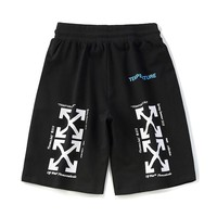 OFF-WHITE Summer New Wild Solid Color Letters Double Arrow Pants Sports Shorts