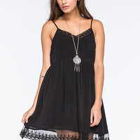 Patrons Of Peace Crochet Lace Dress Black  In Sizes
