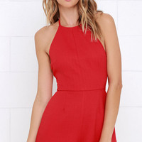 Flight to Florianopolis Red Romper