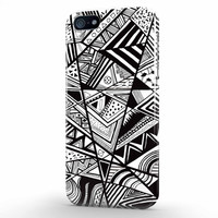 Aztec Pattern Black And White Design iPhone 5 | 5s Case, 3d printed IPhone case