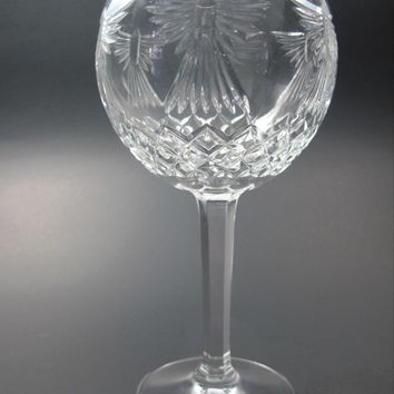 Signed Waterford Hand Cut glass Toasting glass PEACE