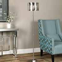 Fronda Steel Drum Shade Floor Lamp