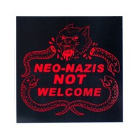 Neo-Nazis Not Welcome Sticker