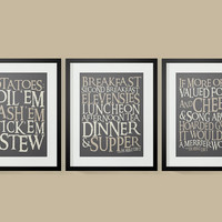 30% OFF Lord of The Rings Inspired Hobbit Diet Typography Posters, Lord of the Rings Wall Art, Modern Home Decor, Wall Art
