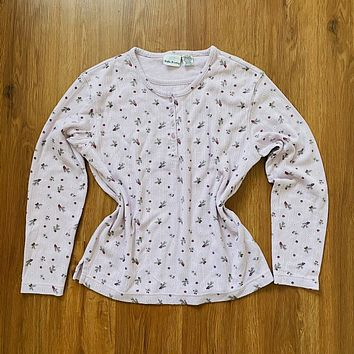 Bobbie Brooks Pinecone Print Thermal Top
