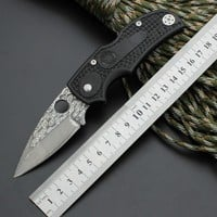 Survival Knife Spider Pocket Hunting Damascus Pattern Folding 440 Blade Knife Tactical Knives Camping Outdoor EDC Tools