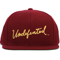 Signature Snapback Hat Burgundy