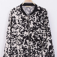 Cow Pattern Long Sleeve Jacket