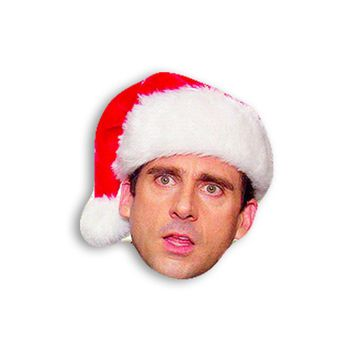 Michael Scott with a Christmas Hat Magnet - Michael Scott Magnet - The Office TV Show Magnet