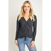 Veronica M Shirred Front Top
