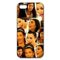 AZA Hard Case for iPhone 5, Kim Kardashian Cying Protective iPhone Cover-Black/White-Retail Packaging