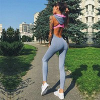 Sports Clothing Yoga Set Women Jersey Gym Clothes Ladies Workout Playsuit Running Sportswear Yoga Jumpsuit Fitness Apparel