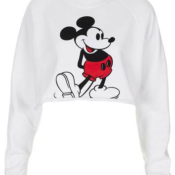 Mickey Crop Sweat - Jersey Tops - Clothing - Topshop USA