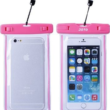 """Universal Waterproof Case, JOTO Cellphone Dry Bag for Apple iPhone 7 6S plus 6 SE 5S, Samsung Galaxy S6, Note 5 4, HTC LG Sony Nokia Motorola up to 6.0"""" diagonal (Pink)"""