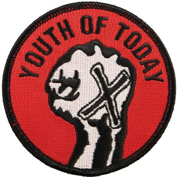 Youth Of Today Men's Fist Embroidered Patch Red