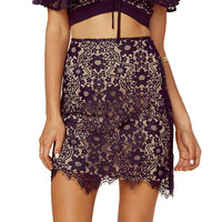 Rosemary Mini Skirt by For Love & Lemons
