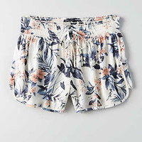 AEO Floral Runner Short, Cream