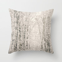 The White Stuff Throw Pillow by Christine Hall
