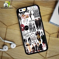 Fall Out Boy My Chemical Romance Panic At The Disco iPhone 6 Plus Case by Avallen