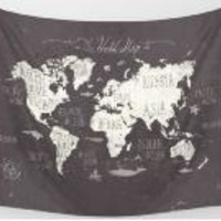 new World Map Tapestry Wall Hanging Indian Mandala Throw Blanket thin Mat Home Room Art Wall Home Textiles 2017 fashion hot