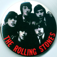 ROLLING STONES Button Badge Pinback Pin Magnet Mirror 60s UK Mick Jagger Keith Richards Brian Jones Beatles Who Kinks YardBirds Led Zeppelin