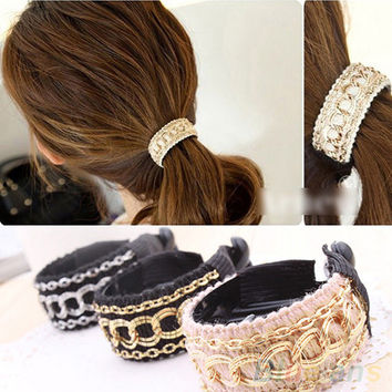 Luxury Gold Chain Hair Clip - 3 Colors