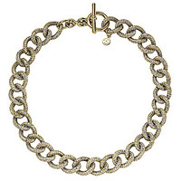 Michael Kors Pave Link Toggle Necklace - Gold