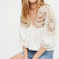 Cutwork Dolman Blouse