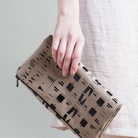 Eclectic Fold Over Clutch