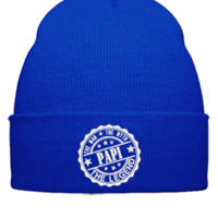 Papi - The Man The Myth The Legend embroidery hat - Beanie Cuffed Knit Cap