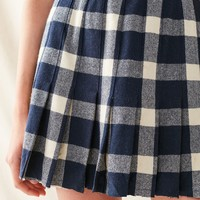 Vintage Pleated Plaid Skirt | Urban Outfitters