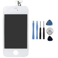 Replacement Digitizer and Touch Screen LCD Assembly for White Apple iPhone 4 (Fits CDMA Verizon/Sprint iPhone 4 only) + 7 Piece Repair Tool Kit