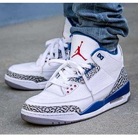 Nike Air Jordan 3 AJ3 Basketball Shoes Fashion Men's and Women's Casual Shoes 2