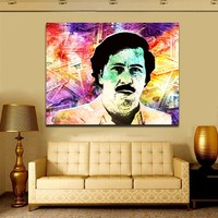 "Pablo Escobar ""Money"" Framed Canvas Wall Art Pablo Escobar Abstract Art"