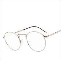 2017 new lace pattern frame glasses trend round box small clear glasses frame