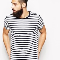 ASOS T-Shirt With Stripe And Contrast Ringer
